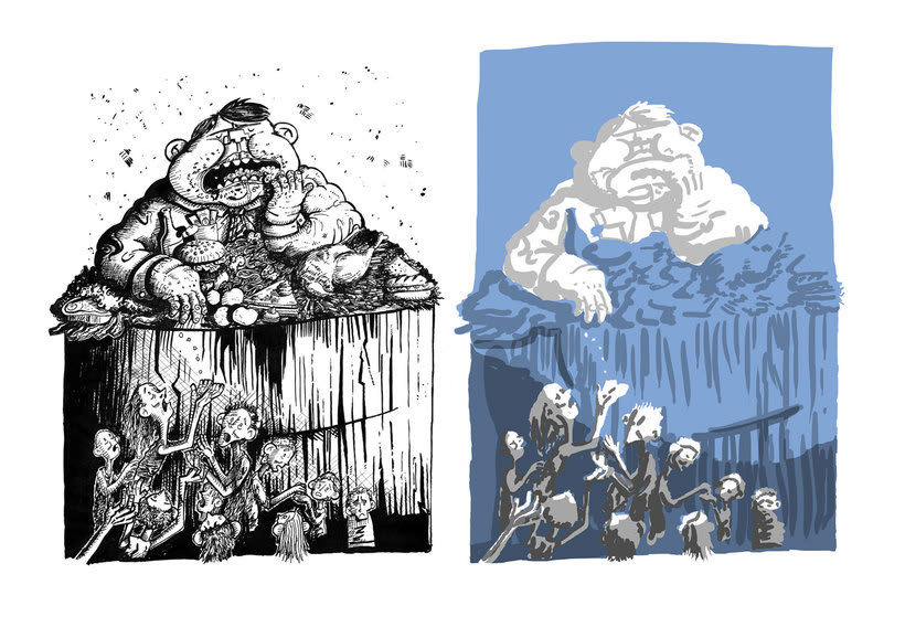 Tinta crítica - Ilustraciones a tinta y color digital 4