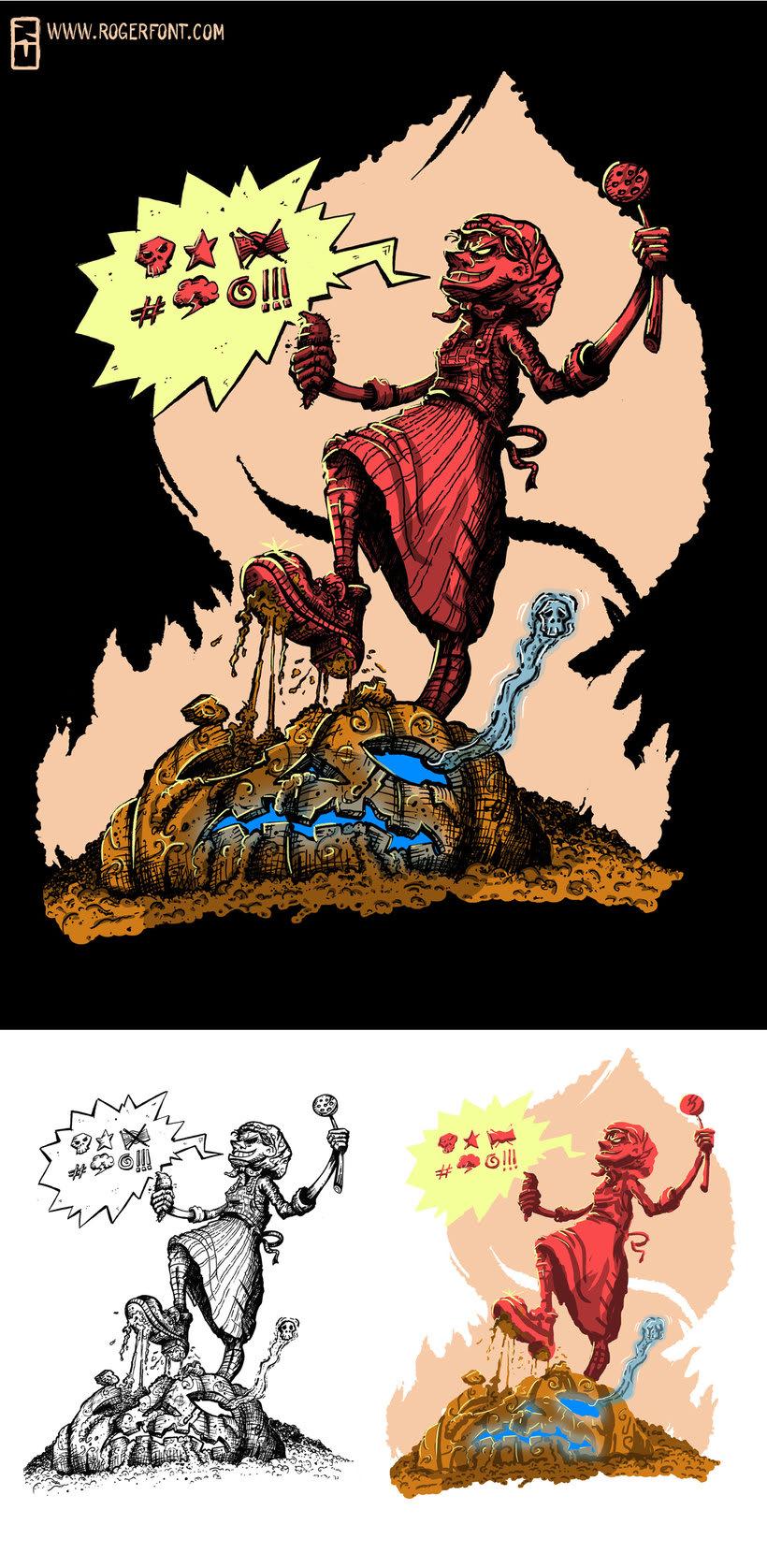 Tinta crítica - Ilustraciones a tinta y color digital 8