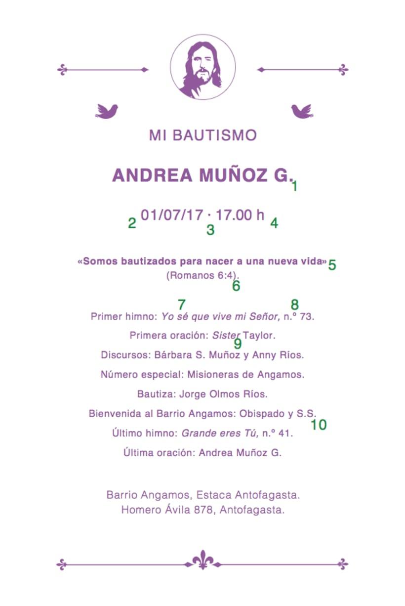 Mi Proyecto del curso: Bautismo de Andrea -1