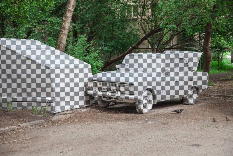 CTRL+X o cómo hacer objetos invisibles con arte urbano 1