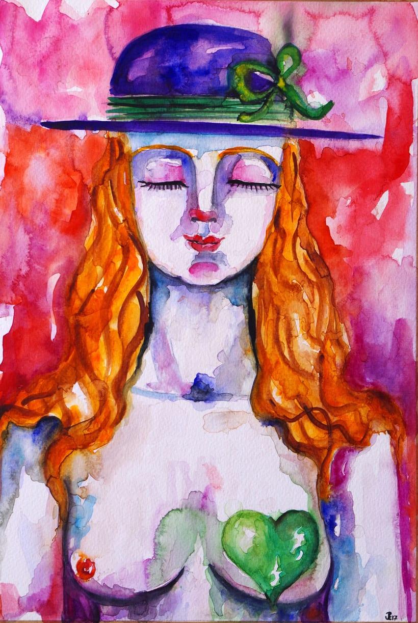 """""""En tu corazón, la esperanza"""". Acuarela sobre papel Michel. 30 x 40 cm. 2.017 -1"""