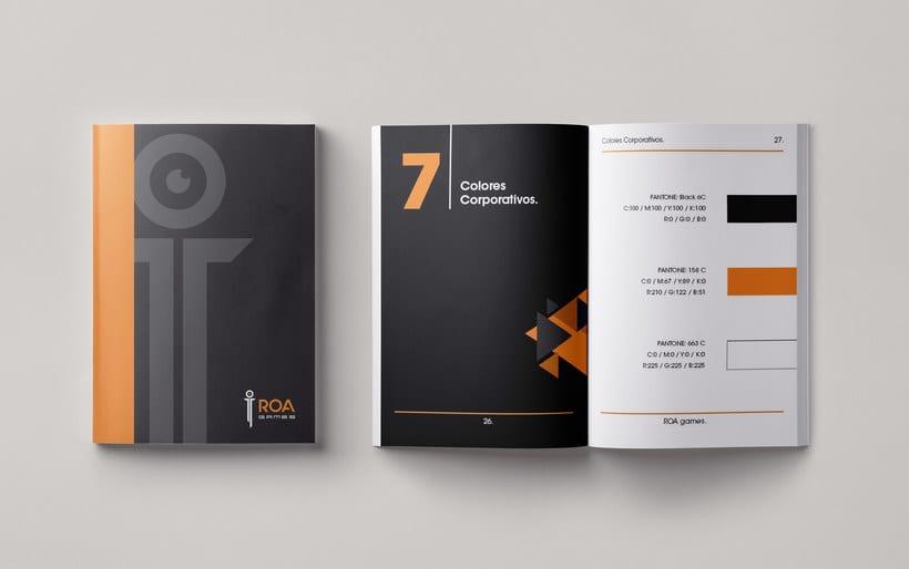 Mi Proyecto del curso: Introducción al Diseño Editorial | Manual de marca ROA. 1