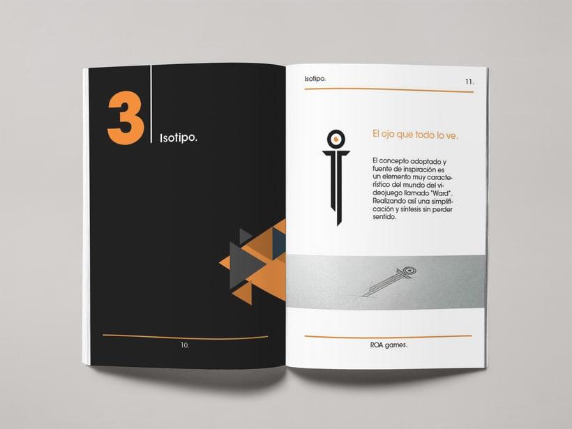 Mi Proyecto del curso: Introducción al Diseño Editorial | Manual de marca ROA. 2