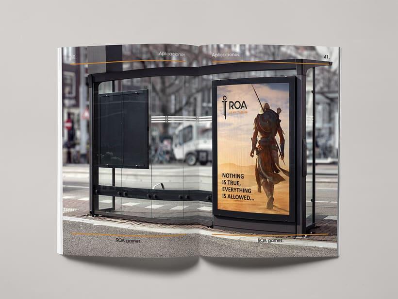 Mi Proyecto del curso: Introducción al Diseño Editorial | Manual de marca ROA. 3
