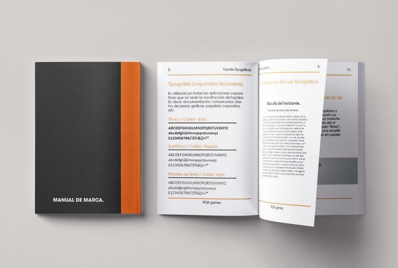 Mi Proyecto del curso: Introducción al Diseño Editorial | Manual de marca ROA. 4