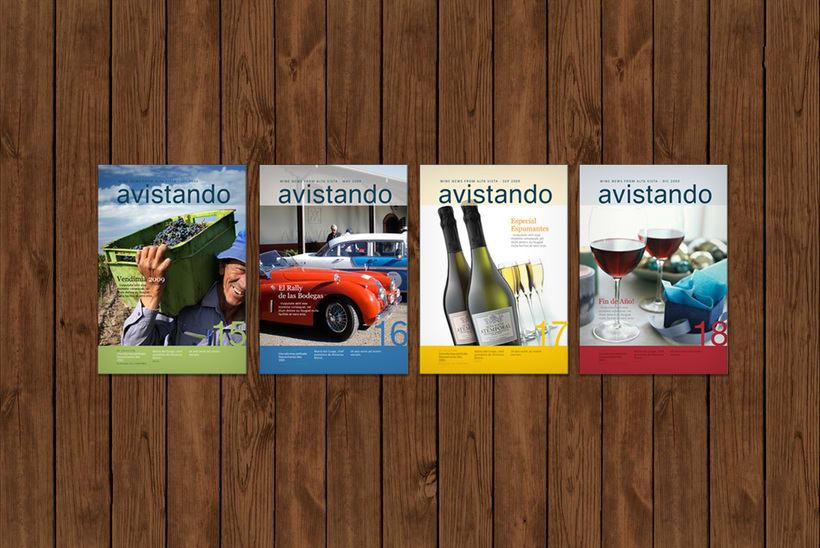 Diseño de revista institucional Avistando 0