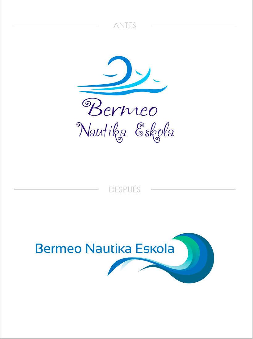 Rediseño de logotipo - Bermeo Nautika Eskola -1