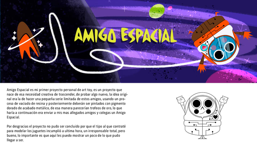 AMIGO ESPACIAL - ART TOY 0