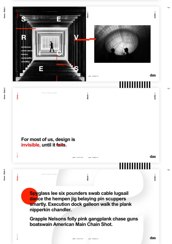 Das - Template Web de Arquitectura 4