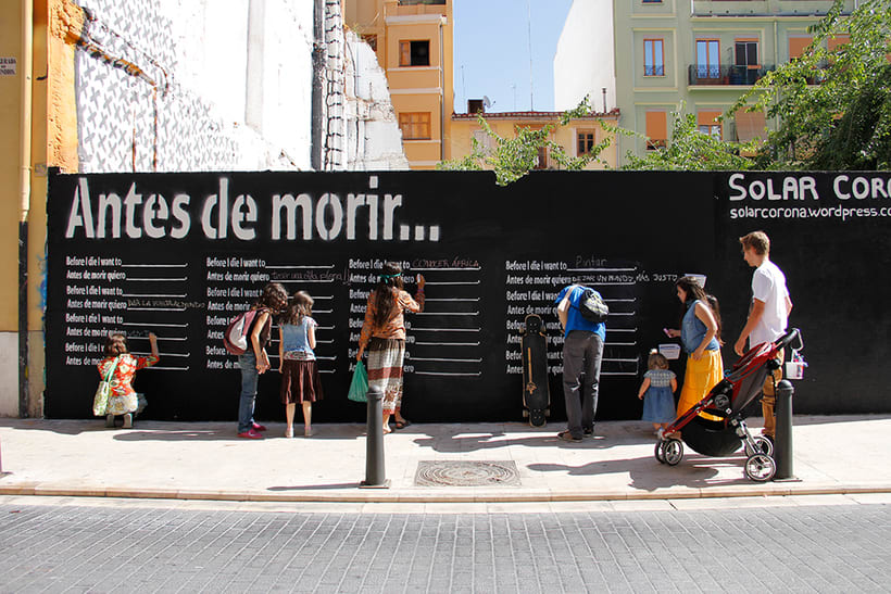 Before I die Wall Valencia 1