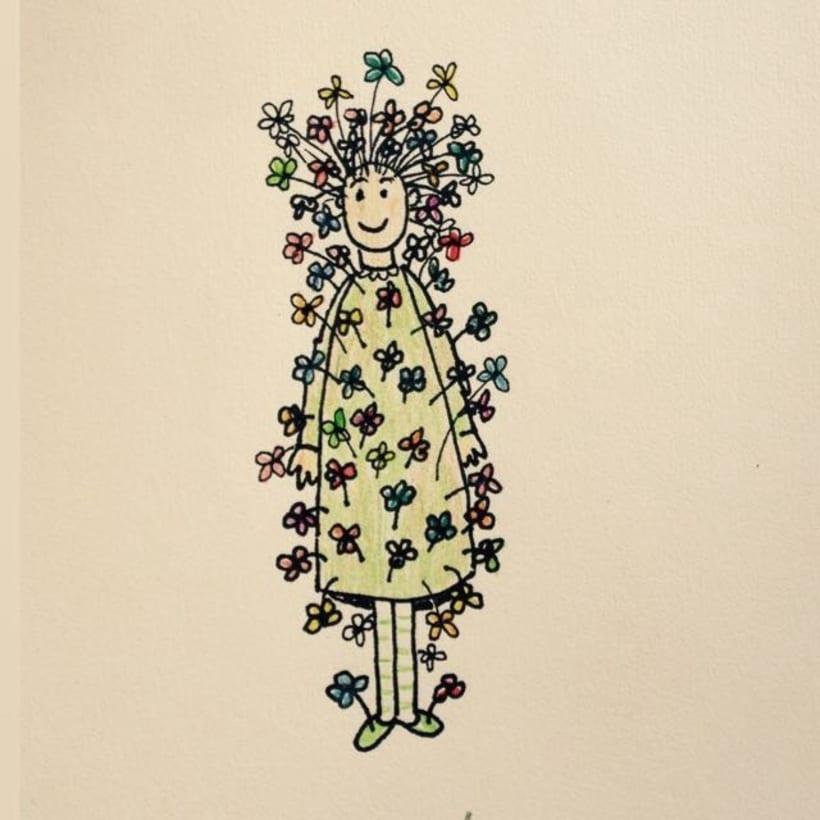 Mujer en flor -1
