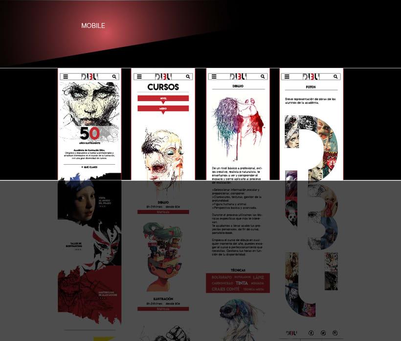 Página web para escuela de dibujo 1