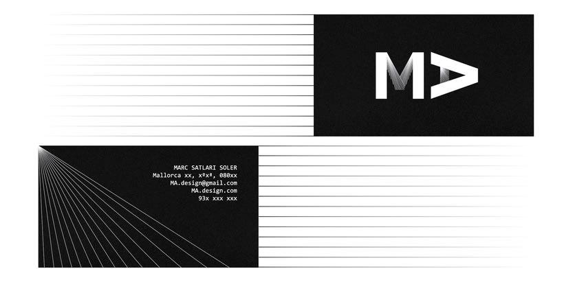 identidad visual para MA.design 1