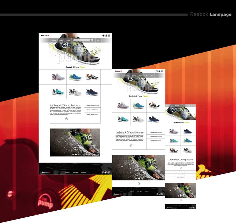 Landing page para marca de calzado deportivo 0