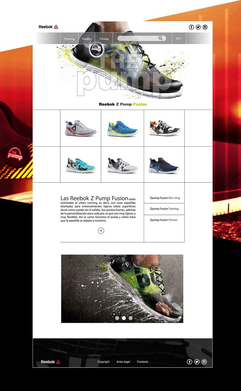 Landing page para marca de calzado deportivo 3