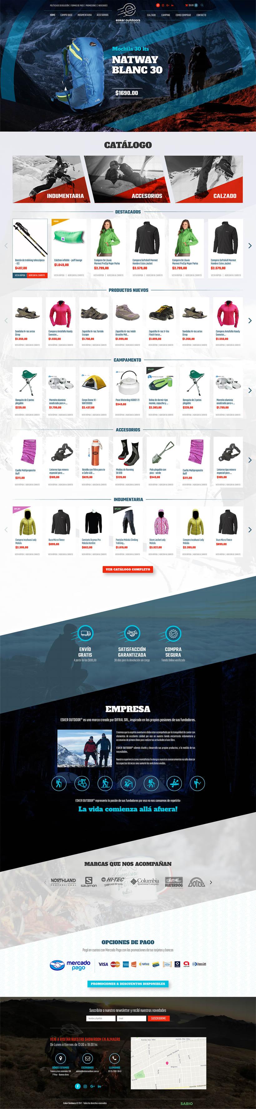 Rediseño Responsive & WooCommerce para Esker Outdoors -1