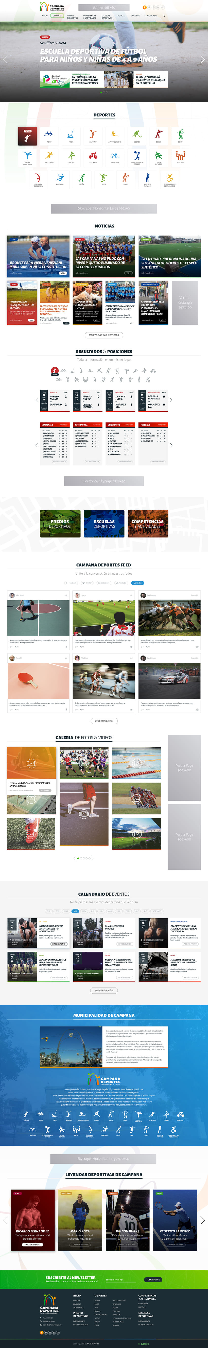 Diseño Web Responsive Portal de Deportes de Municipio -1