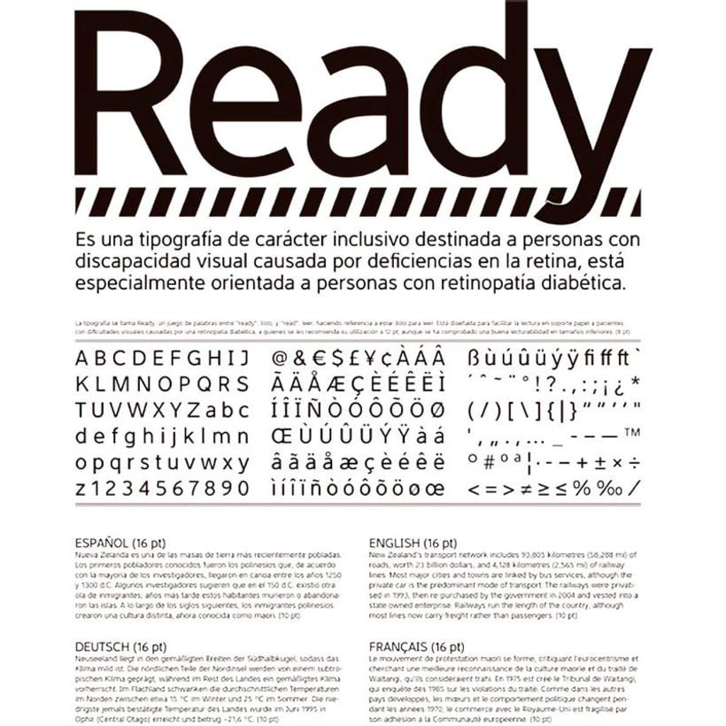 Ready, una tipografía inclusiva y funcional 6