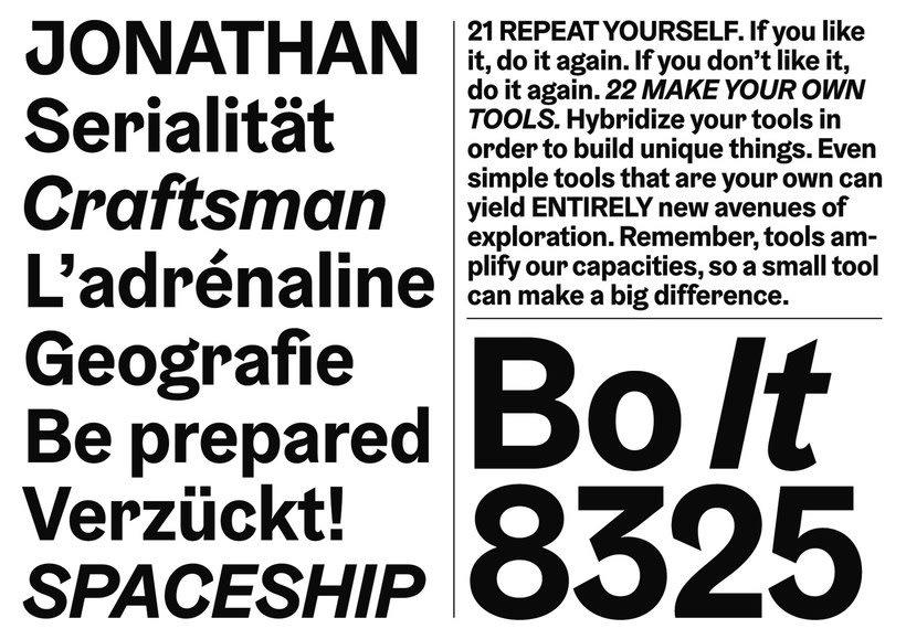 Las mejores tipografías del año según The Type Directors Club 18
