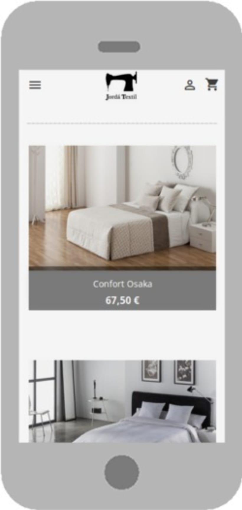 Rediseño del e-commerce de Jordá Texil 0