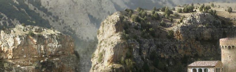 Matte Painting y Concept Art. Palacio entre montañas.  5