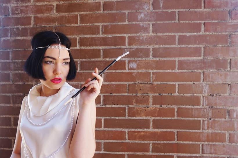 Creación estilismo inspiración mujer  años 20 0