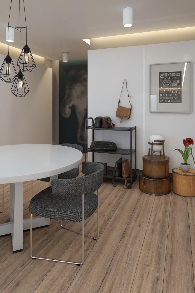 Dise o de apartamento domestika for Diseno de apartamento de 60m2