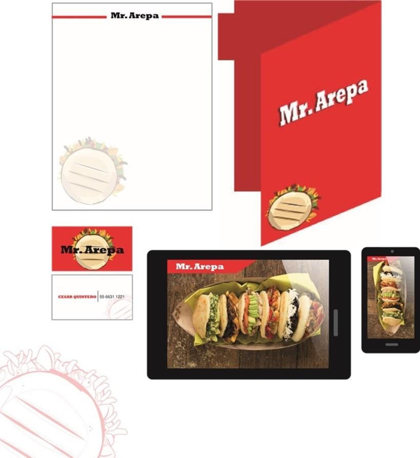 Manual de identidad Mr. Arepa  6
