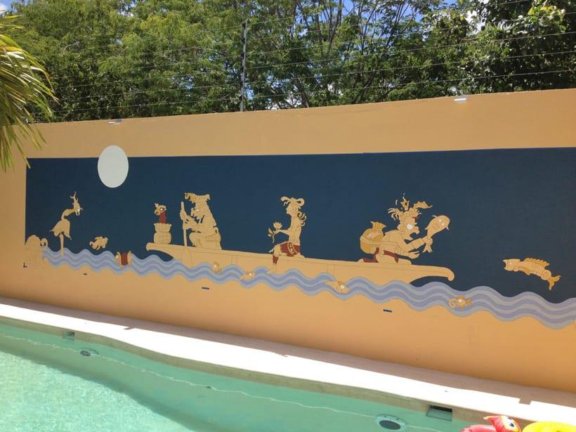Casa Mextli / Pintura Mural 1