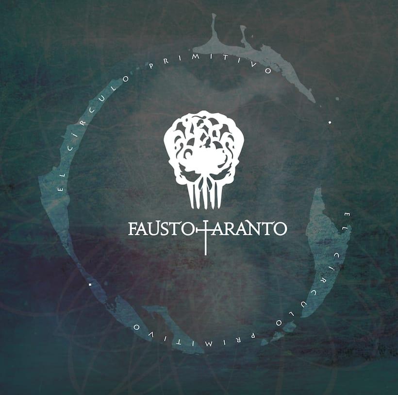 Diseño carátula CD y libreto. Fausto Taranto - El circulo Primitivo 0