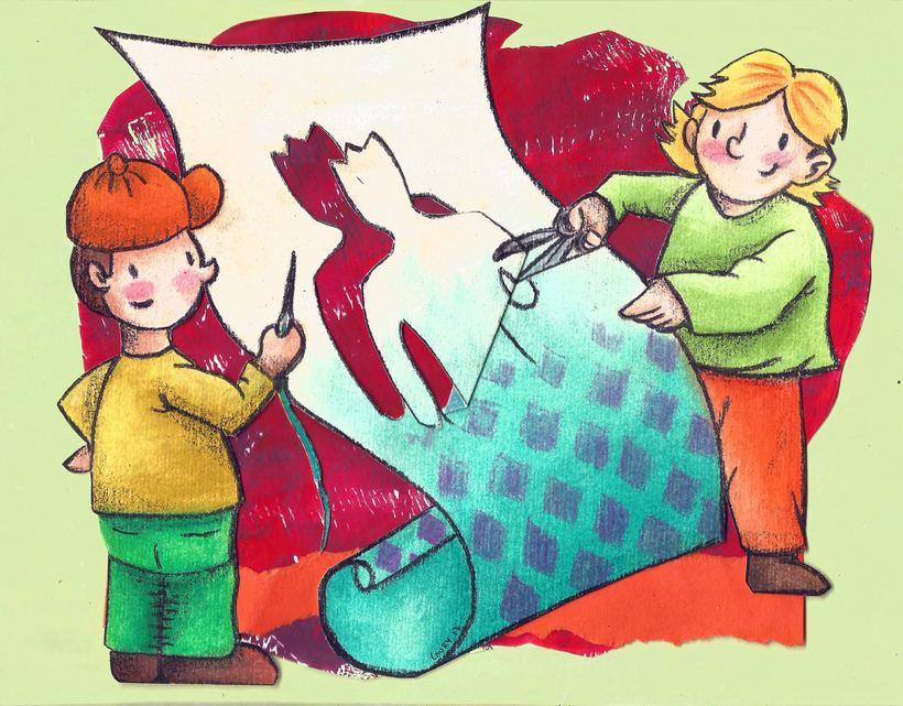 """Mi Proyecto del curso: Introducción a la ilustración infantil: """"El traje nuevo del emperador"""" 0"""