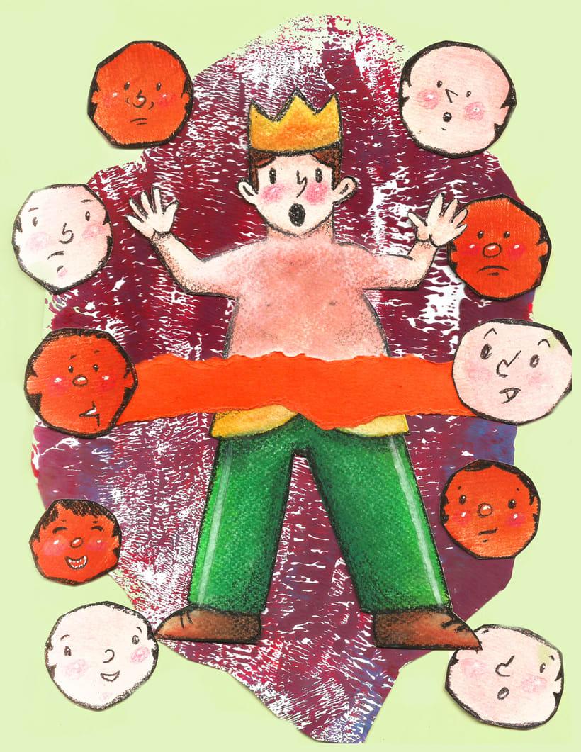 """Mi Proyecto del curso: Introducción a la ilustración infantil: """"El traje nuevo del emperador"""" 1"""