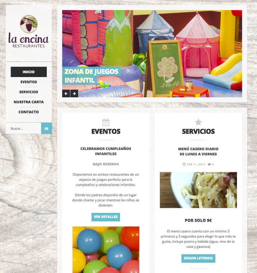 WordPress para La Encina Restaurantes 2