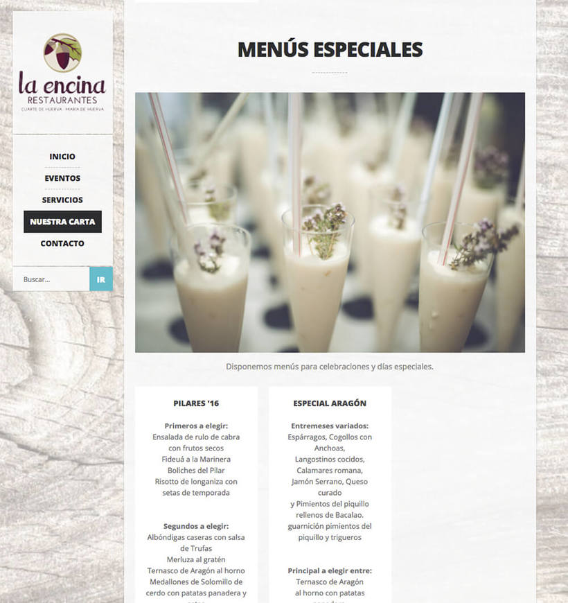 WordPress para La Encina Restaurantes 4