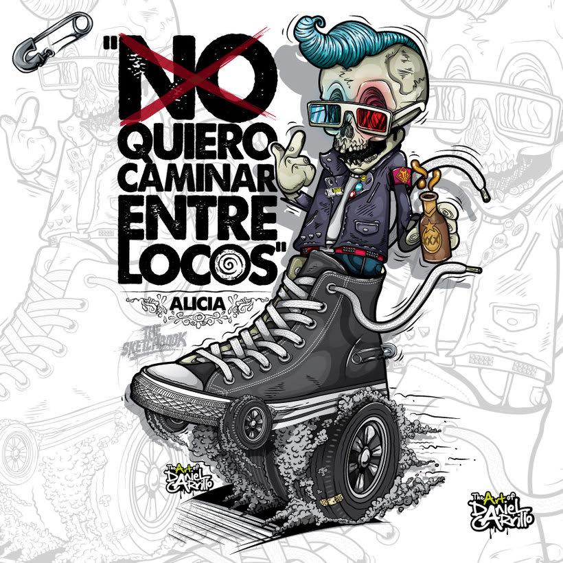 """""""No/ quiero caminar entre locos"""" Alicia. 0"""