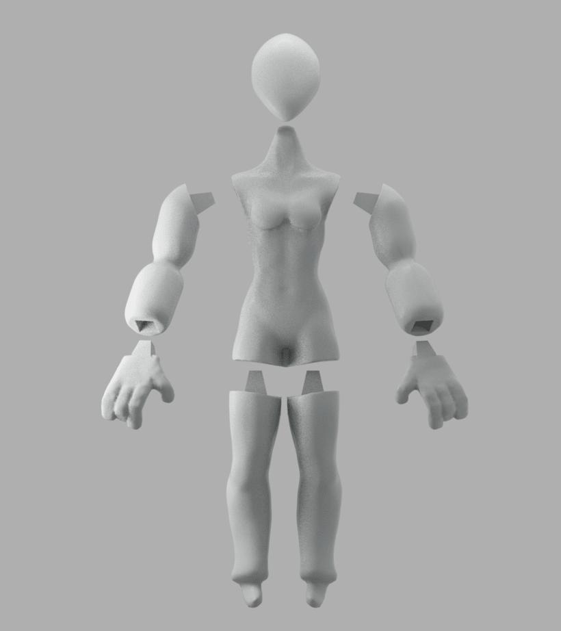 Mi Proyecto del curso: Modelado de personajes en 3D (leon y alien) -1