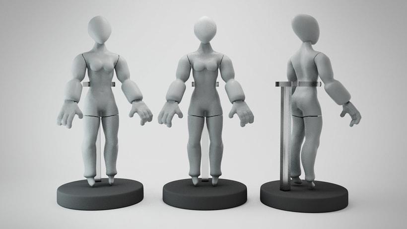 Mi Proyecto del curso: Modelado de personajes en 3D (leon y alien) 1