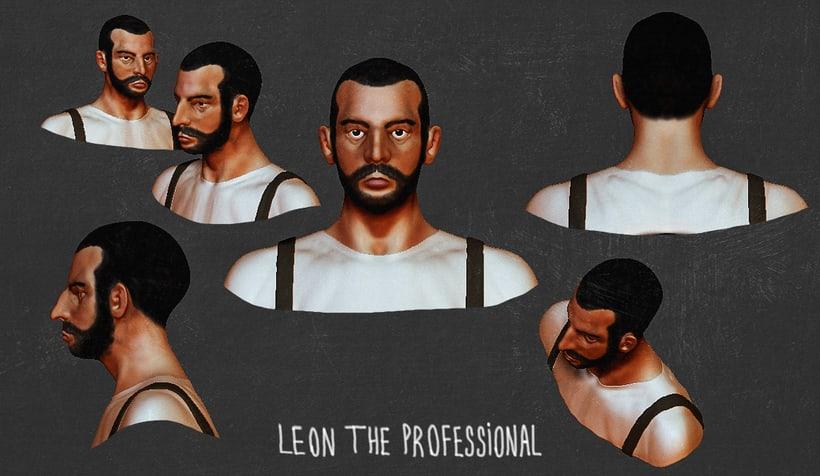 Mi Proyecto del curso: Modelado de personajes en 3D (leon y alien) 3