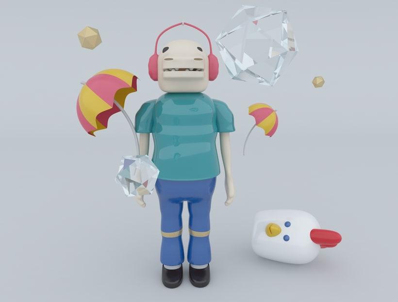 Diseño de personajes en Cinema 4D: Mi projecto. -1