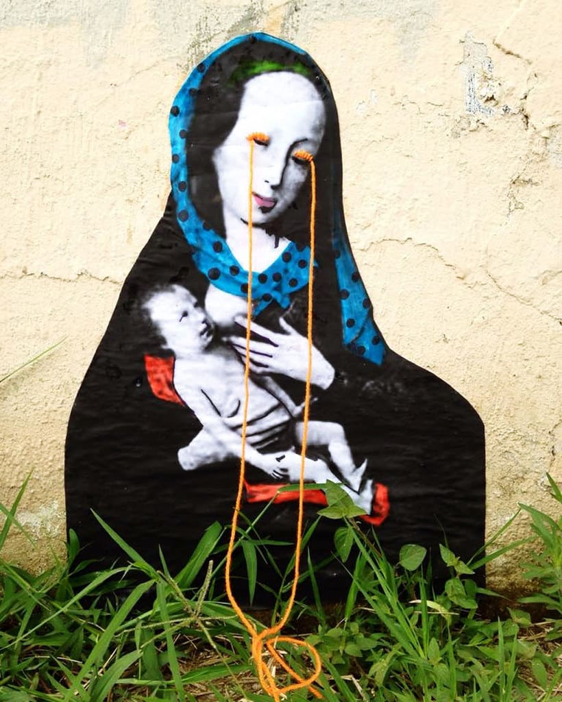 El arte urbano textil con aire mexicano de Victoria Villasana 6