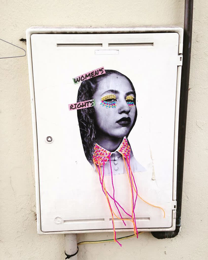 El arte urbano textil con aire mexicano de Victoria Villasana 13