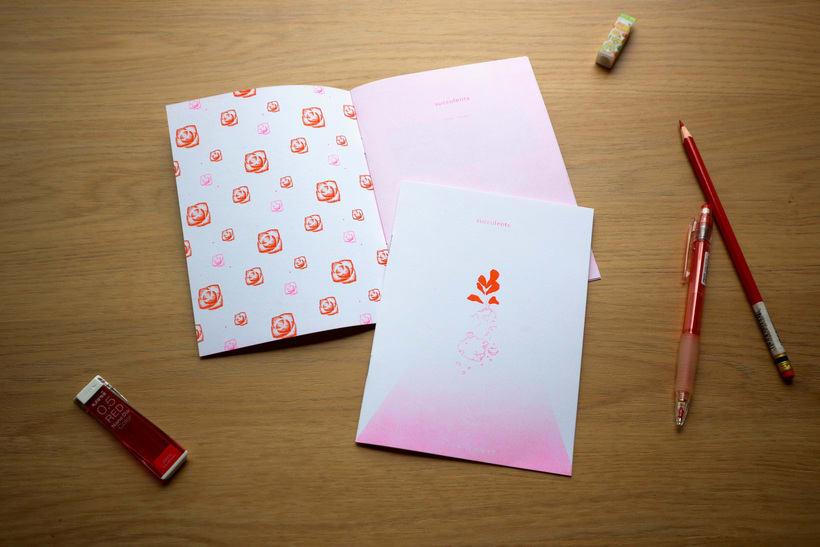 """Fanzine """"succulents"""" hecho en risografía  1"""