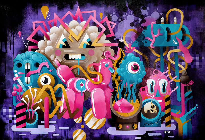 Los locos mundos ilustrados de Zeptiror 7