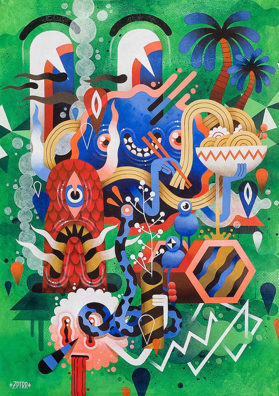 Los locos mundos ilustrados de Zeptiror 9