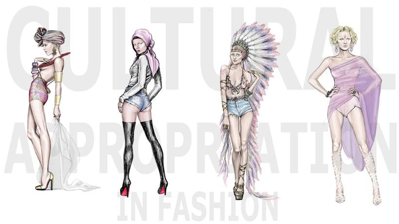 Fashion Illustration for Pigeons & Peacocks Magazine. 1