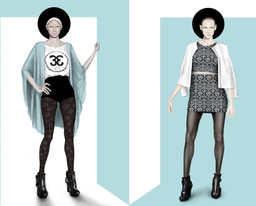 Ilustración Moda H&M 0
