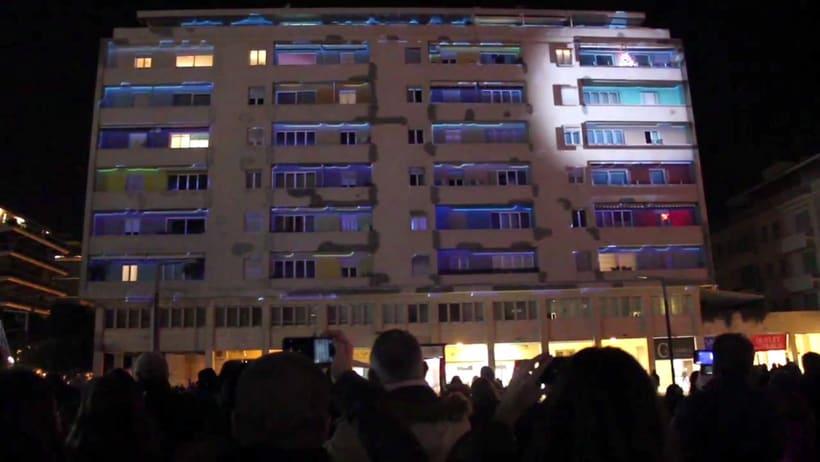 Festival de videomapping Pescara, fin de año 2016 2