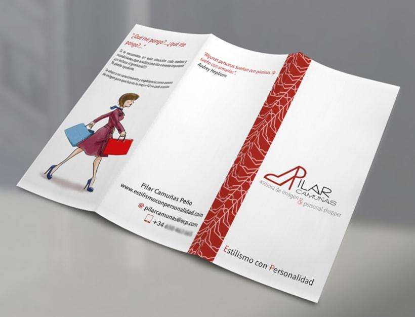 folleto y tarjetas de visita 1