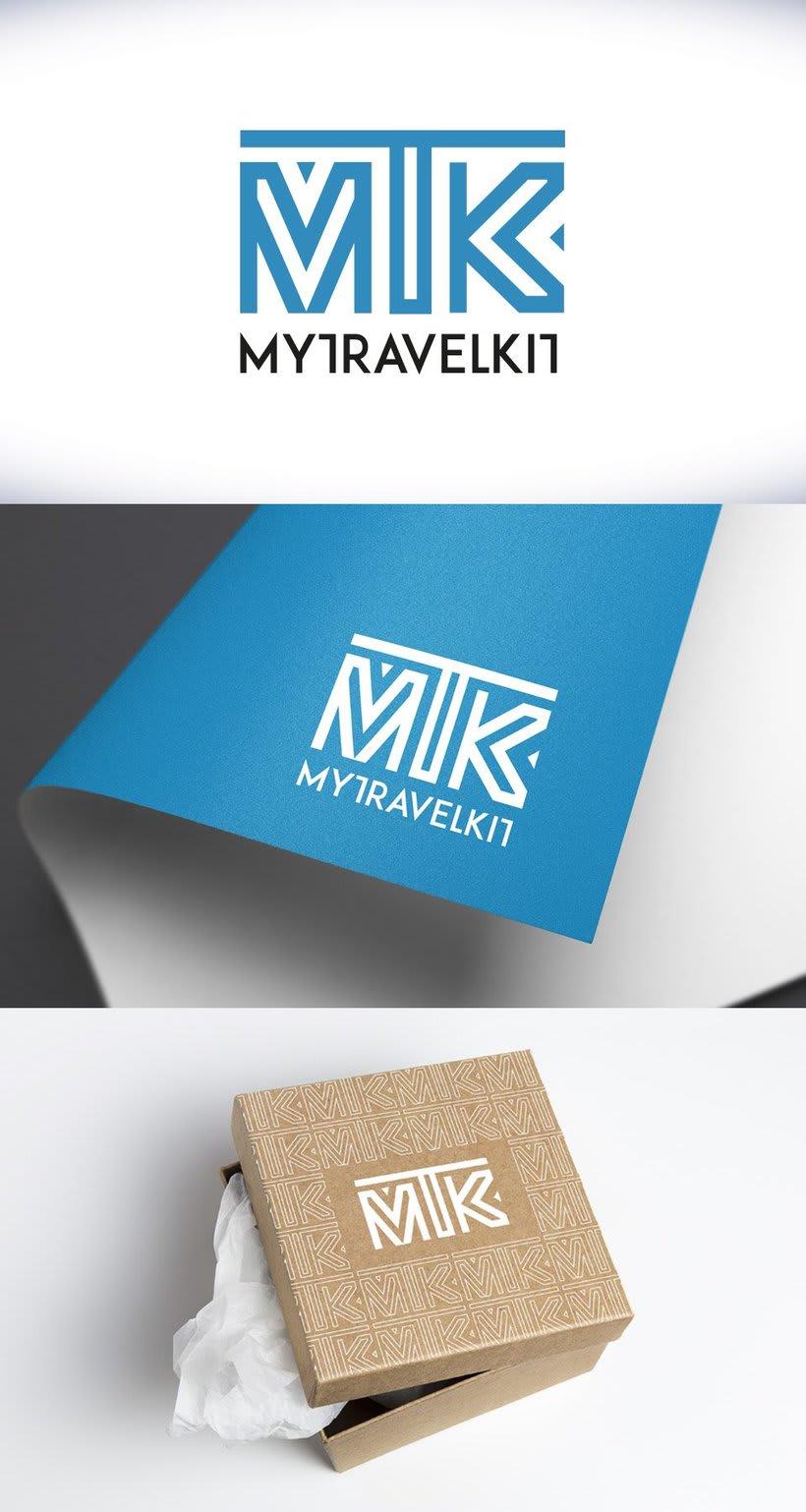 """Diseño de logotipo """"MY TRAVEL KIT"""" -1"""