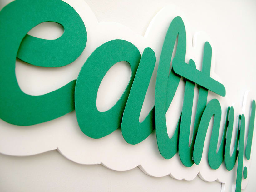 Composition, Papercraft and Lettering (Student Project) 8